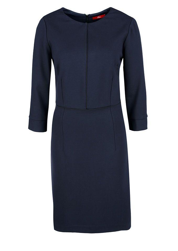 s.Oliver RED LABEL Paspeliertes Jerseykleid Jetzt bestellen unter: https://mode.ladendirekt.de/damen/bekleidung/kleider/jerseykleider/?uid=67ff15c2-4a88-5a37-b953-b8db6f3cb9c5&utm_source=pinterest&utm_medium=pin&utm_campaign=boards #kleider #jerseykleider #bekleidung