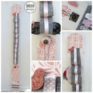 hajpánttartó #hajpant #nyaklanc #tárolás #organizer #necklet #pallet #vintage #roze #nice #design #stencil #pained #snood
