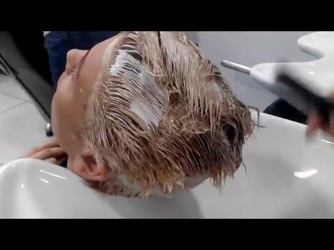 Koyu saç rengini sarı saç rengine çevirme açma boyama işlemi - YouTube