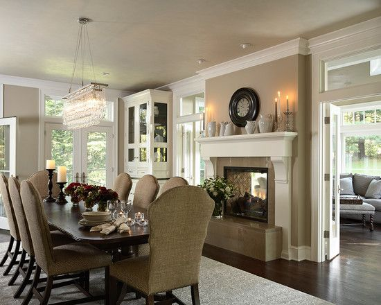 Two Sided Fireplace Design, Pictures, Remodel, Decor and Ideas - page 20 to close space bt dining and sitting room