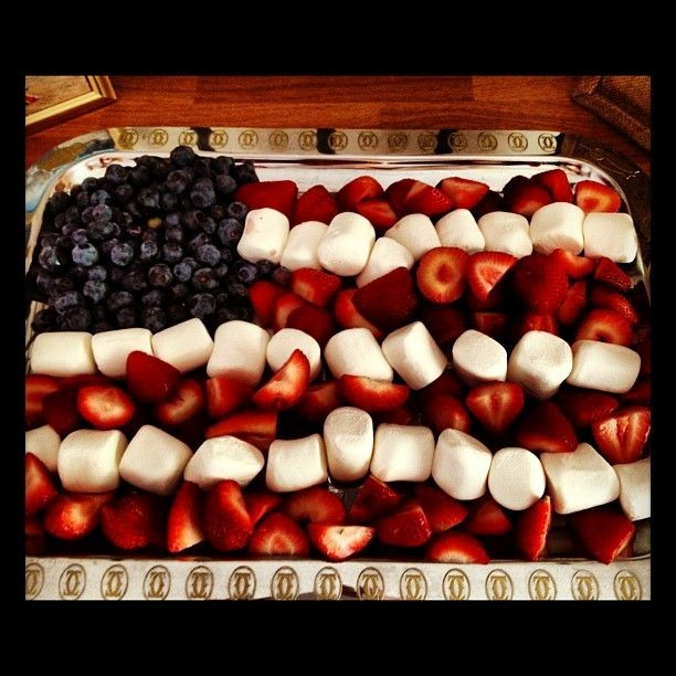 Olympic Party Fruit and Marshmallow Tray!