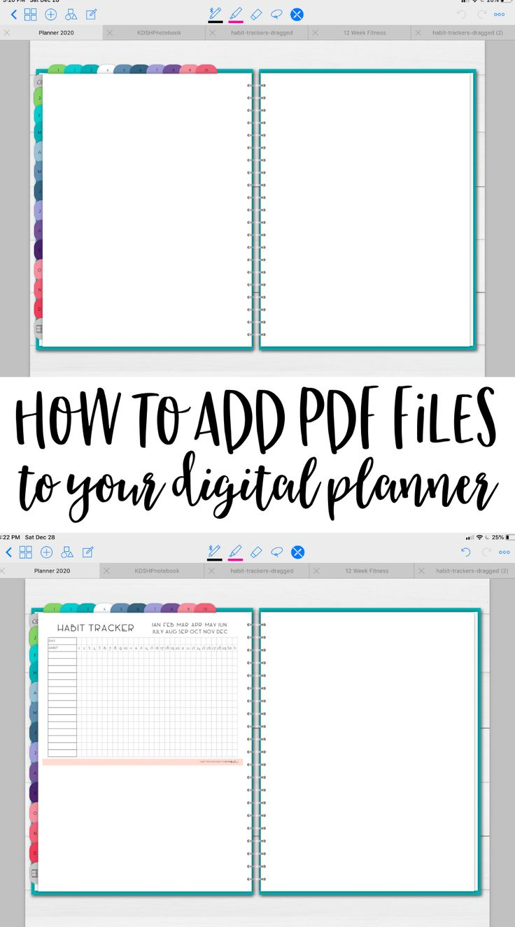 How to Add a PDF to Your Digital Planner Planning