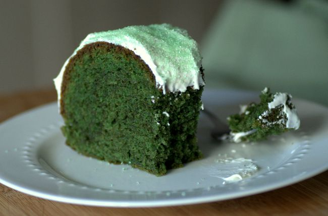 This bold green velvet cake is the perfect dessert to serve up for St Patrick's Day! It's easy and delivers the same delicious flavor as classic red velvet.