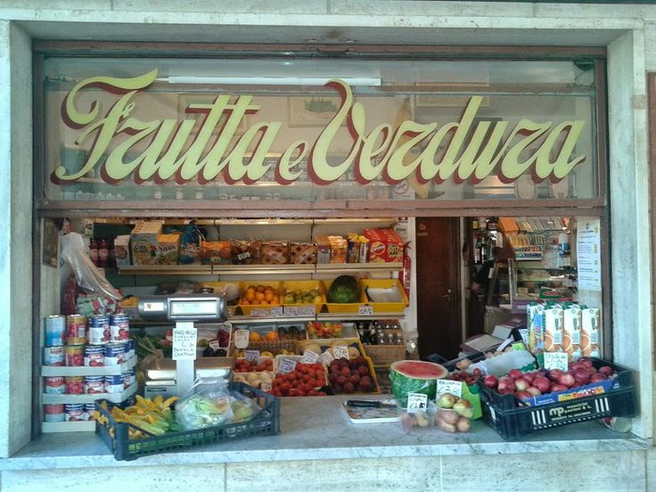 Fruit and vegetable shop and coffee bar Maghi in the Maremma Nature Park