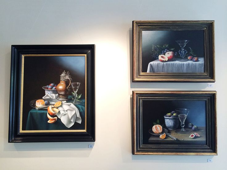 Three works by Brian Davies from our Brian Davies Memorial Exhibition at John Adams Fine Art.
