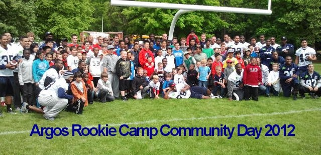 """What a great day the MFL players had at the Argos Rookie Community """"Mini Training"""" Camp - June 2 2012"""
