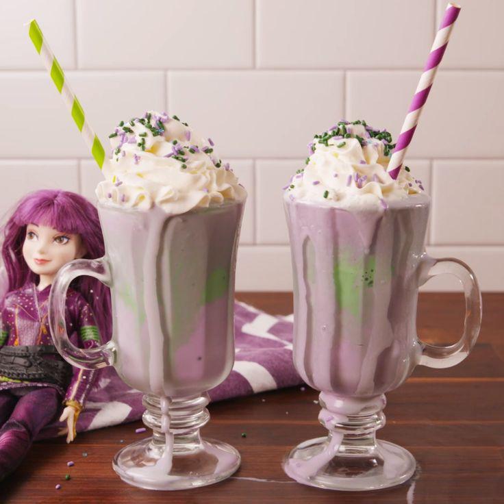 A wicked milkshake Mal would love. #drink #easyrecipe #kids #ideas #milkshake