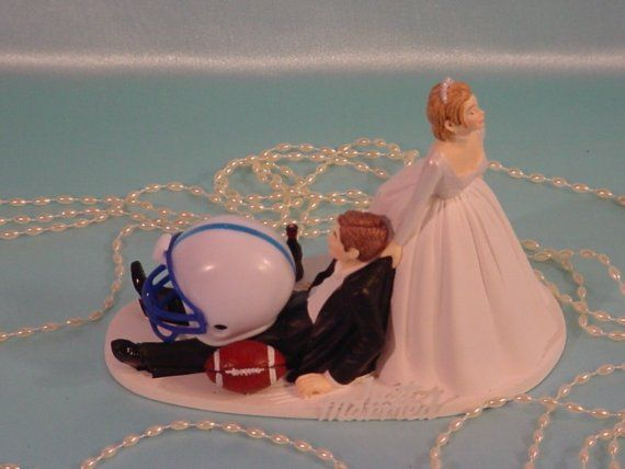 College Football Penn Nittany Lions funny Anxious bride dragging Groom sports Fan Fun Wedding Cake topper - Pennsylvania State University- $59.99 on Etsy, Pinned 6/8/15