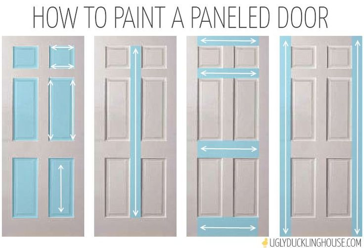 how to paint a paneled door, doors, painting