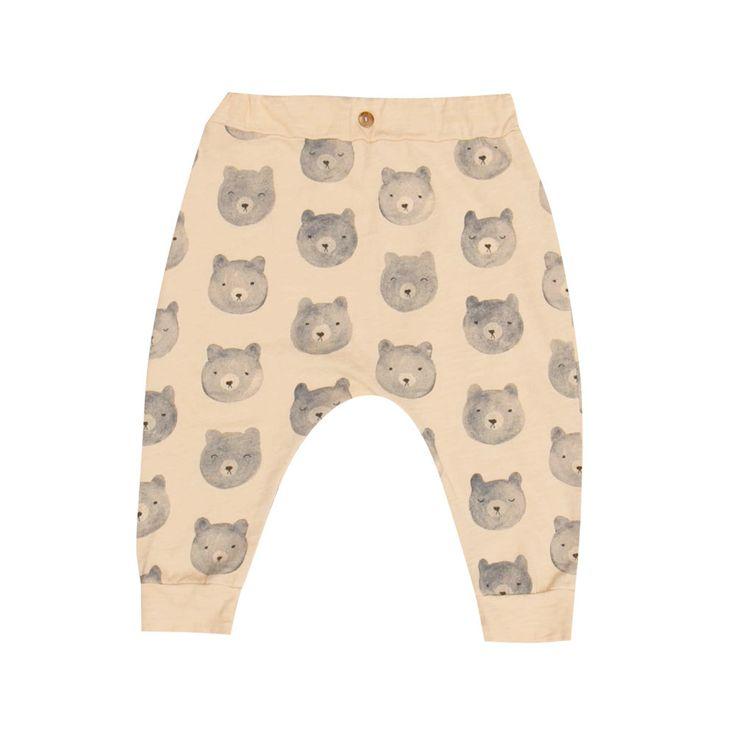 Rylee & Cru Bears Pant / Peach - Le Petit Organic - 1