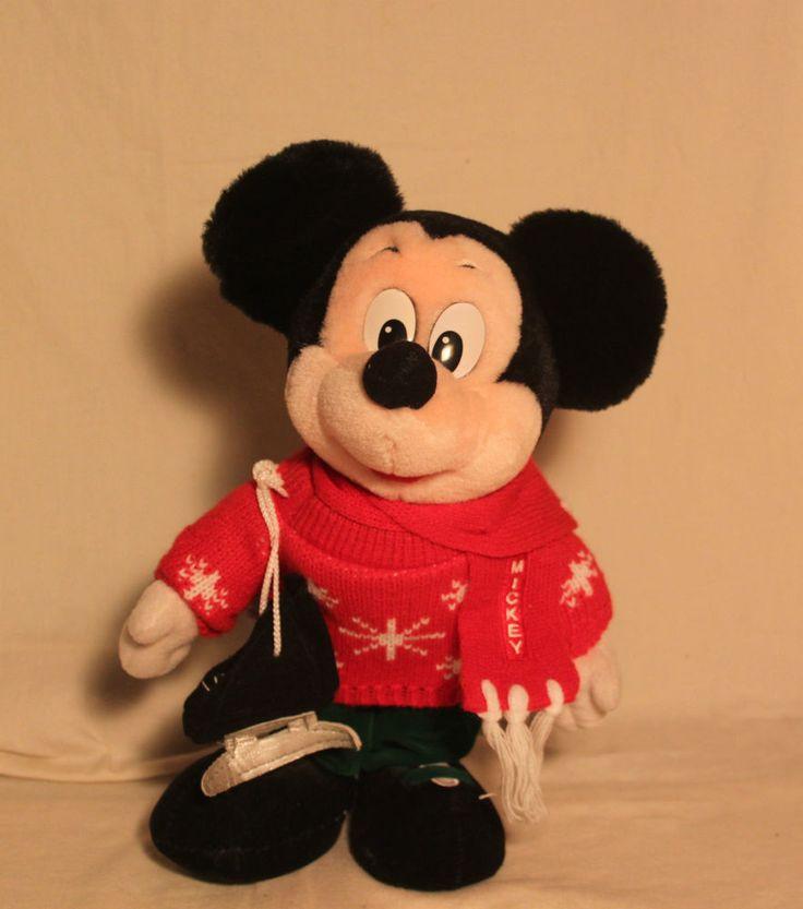 Mickey Mouse Skates The Disney Store 12  Skater Mickey Christmas Sweater