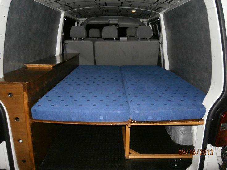 Vw Transporter T5 Lwb Day Van Bed Bench Seat Cushions Lockers All Custom Made Ebay Van