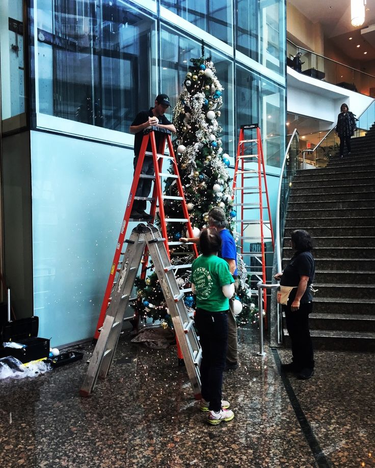 I spy Santa's elves putting up the tree in the lobby of the @vanmarriott! It's our first sighting of the holidays and we can't wait for more! Share your holiday sightings with the hashtag #ISpyTheHolidays and join in the fun of preparing for the most wonderful time of the year!