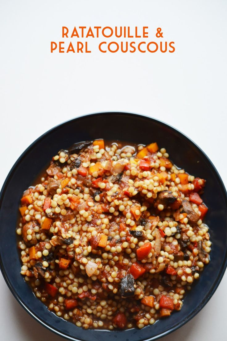 The Inked Vegan: Ratatouille & Pearl Couscous for Meatless Monday