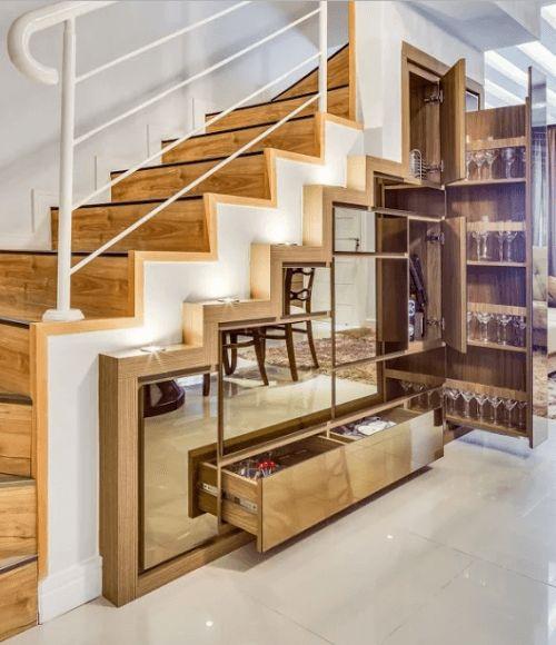 ШКАФ лестница зеркальная