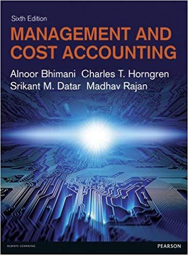 solution manual for management cost accounting bhimani
