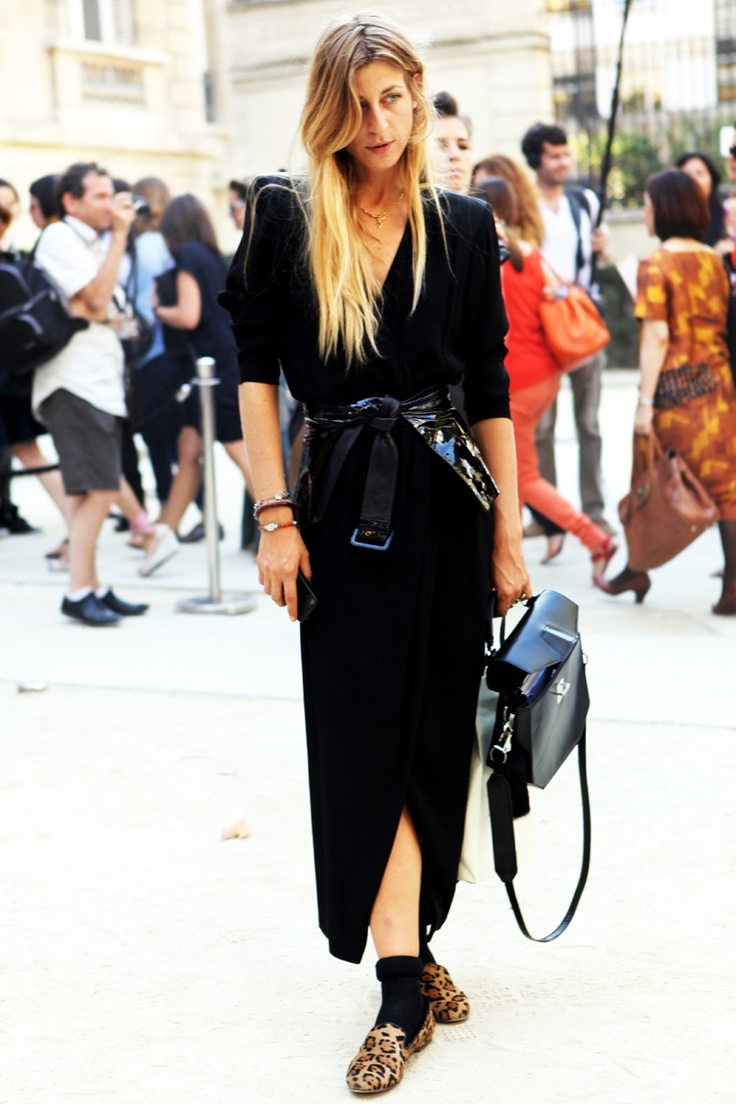 Cool belt to bring more texture to the look, just change shoes to sandals.
