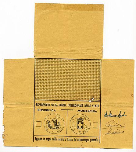2 giugno 1946 Referendum Costituzionale - Repubblica o Monarchia   #TuscanyAgriturismoGiratola