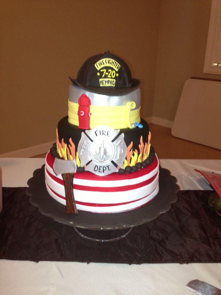 Firefighter grooms cake i made!!!   Mallory Gray 50 Cakes of Gray(facebook) m50cakesofgray@yahoo.com Memphis, TN