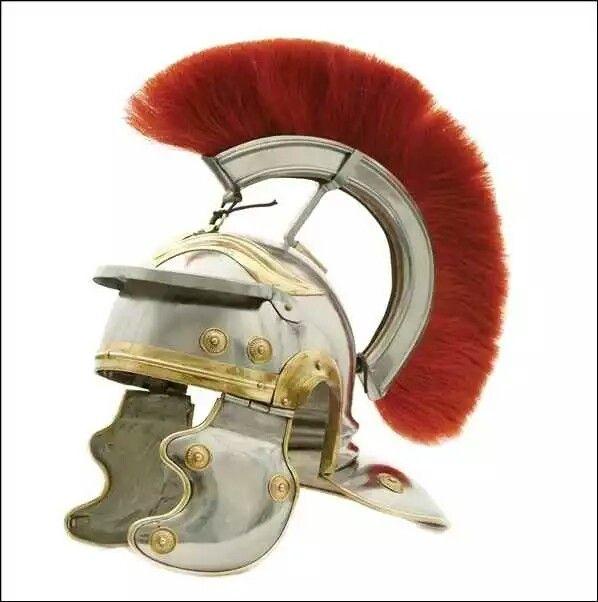 Roman Centurion Helmet, Red Horsehair Crest