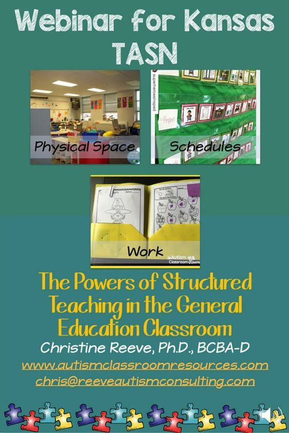 TASN Webinar on Structured Teaching in the General Education Classroom | The general, Student ...
