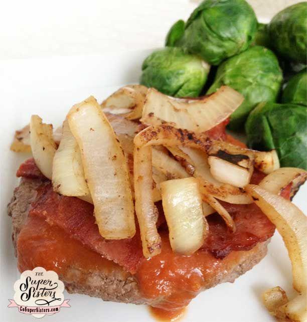 Homemade BBQ Bacon Burgers - Super SisterFitness