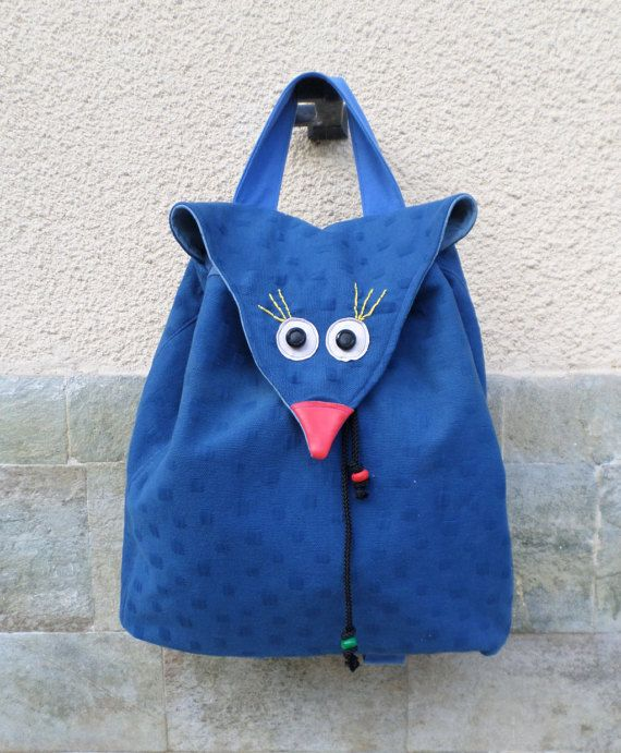 The bird bag bird backpack animal bag women by MariasHappyThoughts
