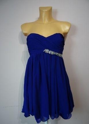 Kup mój przedmiot na #vintedpl http://www.vinted.pl/damska-odziez/krotkie-sukienki/13786824-chabrowa-bez-ramiaczek-lipsy-s