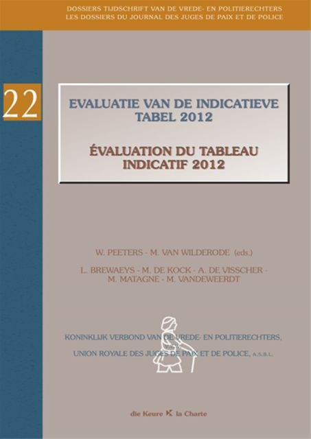 Evaluatie van de indicatieve tabel 2012 / Evaluation du tableau indicatif 2012