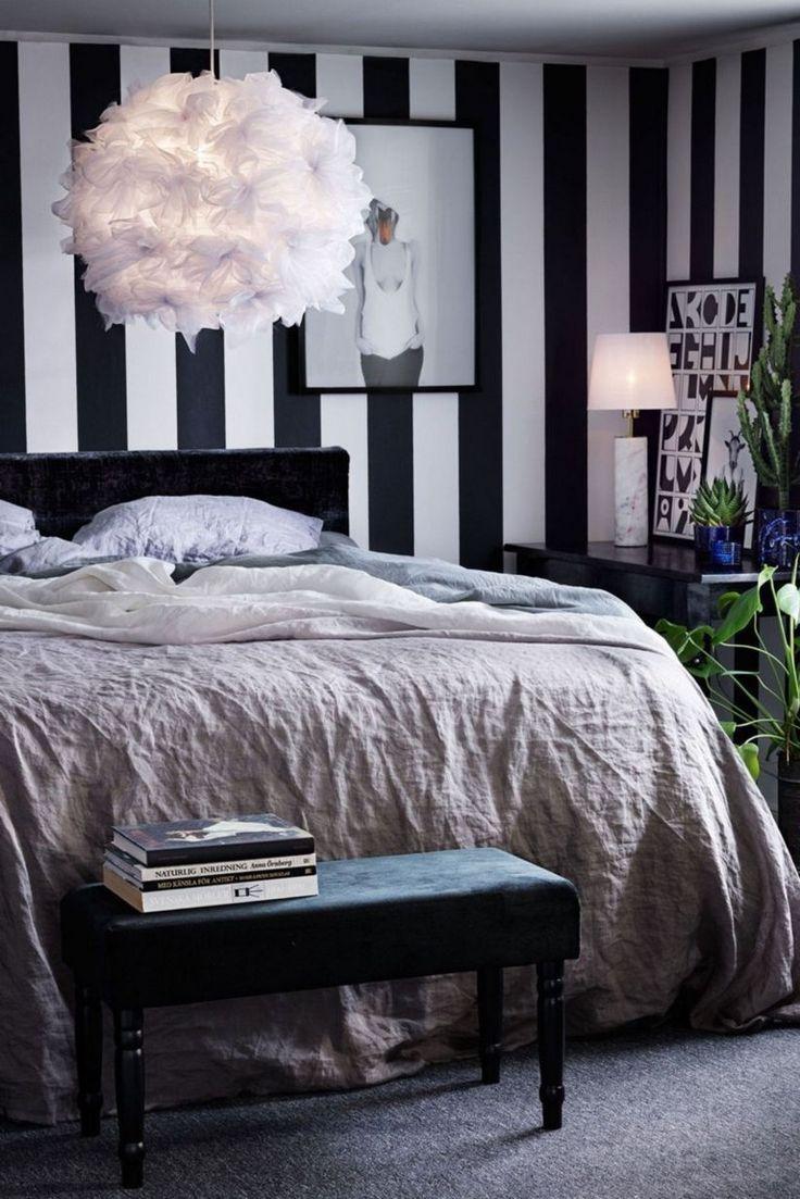 42 Best Inspiring Black And White Geometric Wallpaper Ideas For Bedroom Black Wallpaper Bedroom Stripe Wallpaper Bedroom Bedroom Wallpaper Black And White