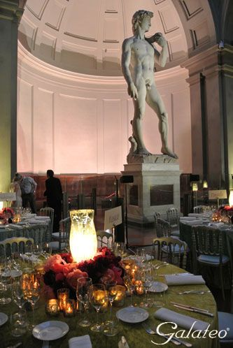 The Galleria dell'Accademia_ the magnificent statue of David by Michelangelo_Florence_Italy