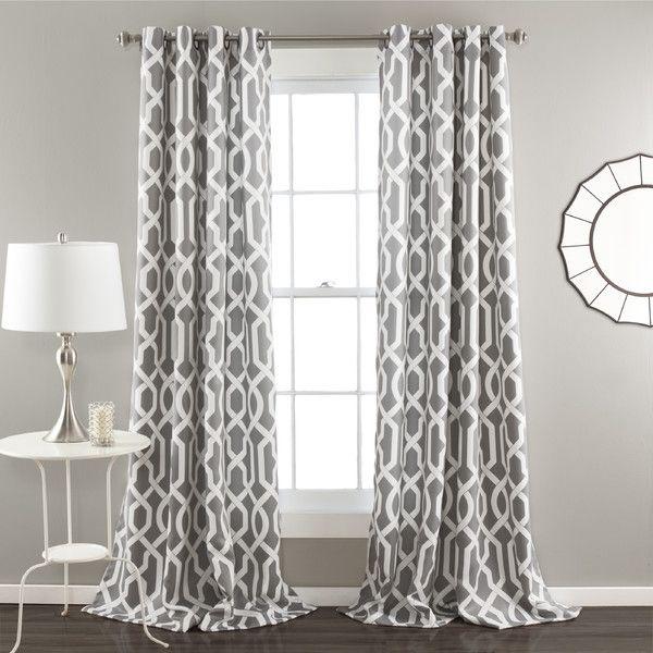 $ 60 - Edward Curtain Panel by Lush Decor -  Gray - Grommet - Room darkening - Two panels. - $ 52.    http://www.wayfair.com/Edward-Curtain-Panel-C327-LJD3826.html?piid%5B0%5D=14421515