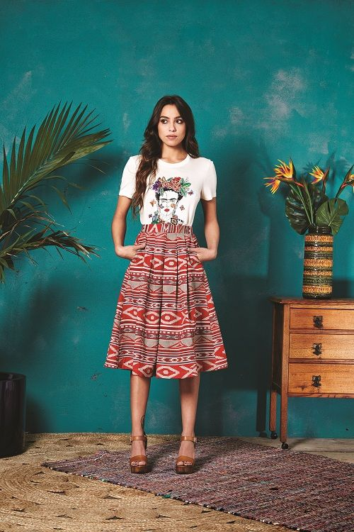 Valley of the Dolls Frida T-Shirt and Pasadena Mexico Skirt