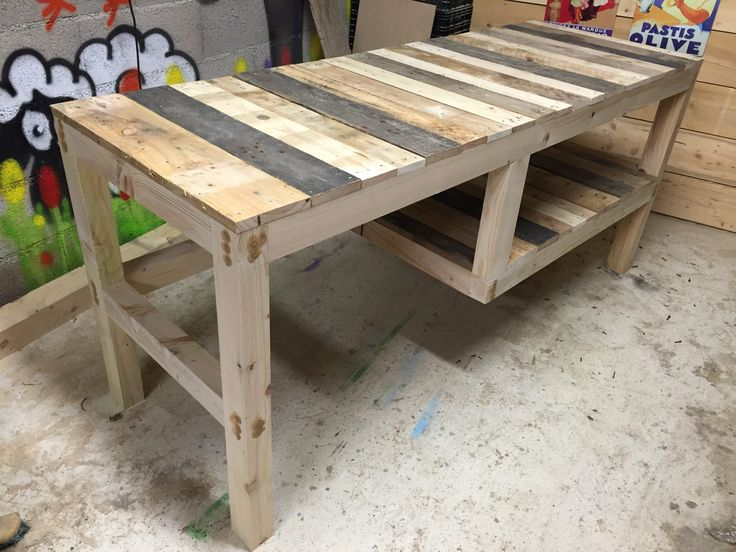 pallet furniture desk. here below is my pallet desk with integrated shelf the frame was made whole furniture b