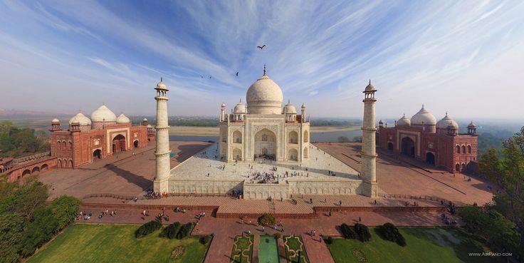 Espectacular fotografía del Taj Mahal #India