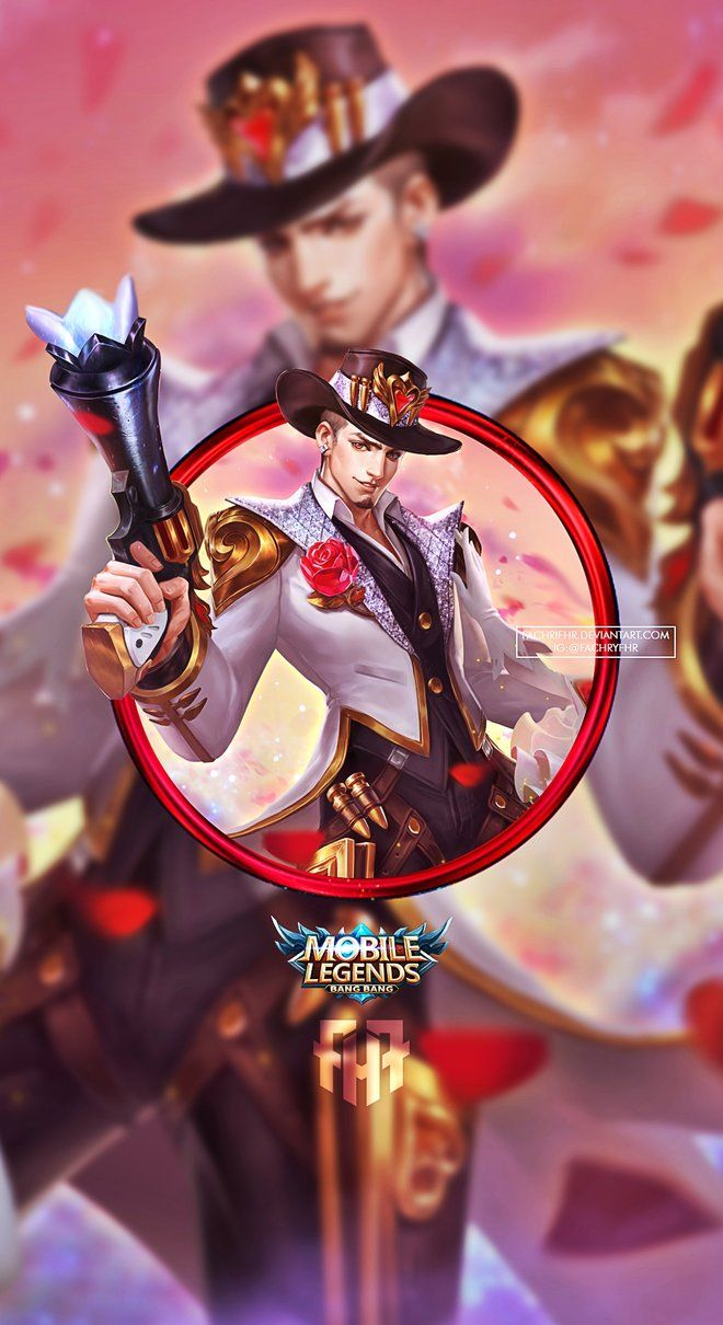 Wallpaper Phone Clint Guns And Roses By Fachrifhr Mobile Legend Wallpaper Mobile Legends Joker Iphone Wallpaper