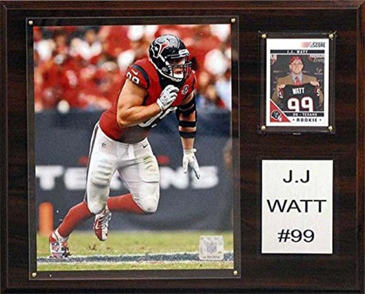 CandICollectables 1215JJWATT NFL 12 x 15 in. JJ Watt Houston Texans Player Plaque - Brought to you by Avarsha.com