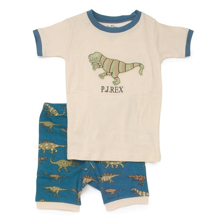 PLANET PYJAMA - Home of quality Kids pyjamas - Dinosaur PJ Rex shortie pyjamas, $34.95 (http://www.planetpyjama.com.au/dinosaur-pj-rex-shortie-pyjamas/)