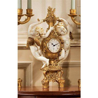 Basil Street Gallery The Cherub's Harvest Table Clock