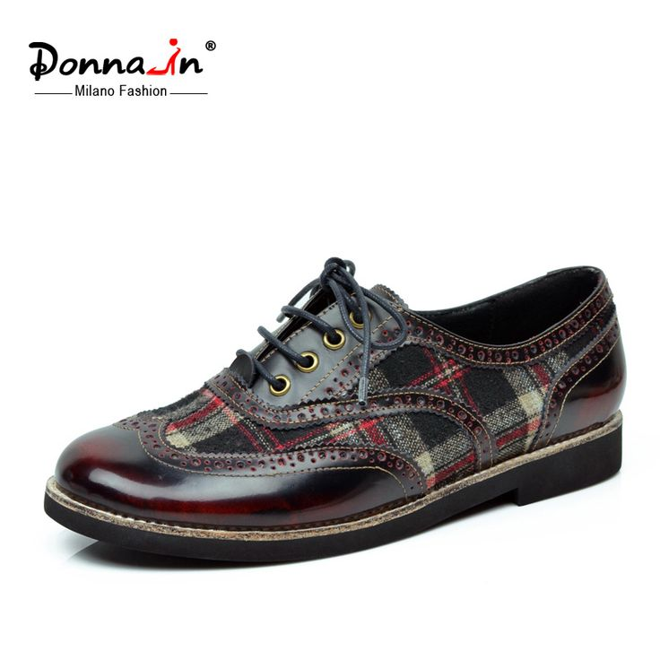 Donna-in 2016 new spring styles full grain cow leather flats lace-up oxfords women's shoes //Price: $US $53.10 & FREE Shipping //     #woman