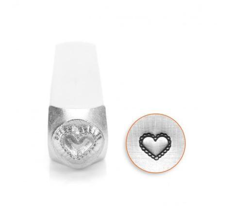 ImpressArt - Love & Wedding, Lace Heart, 6mm, Metal Stamp - Press Metals