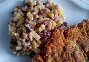 Bramborovo-fazolový salát Recepty.cz - On-line kuchařka