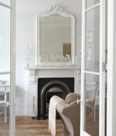 Victorian Fireplace. Paint our pine surround white?