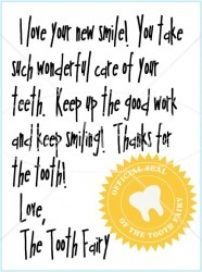 so cute - santa leaves notes so why not the tooth fairy?! More