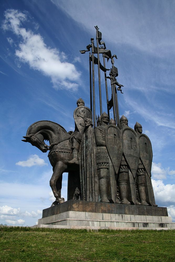 russianmonarchist:  Monument to Prince Alexander Nevsky in Pskov, Russia.