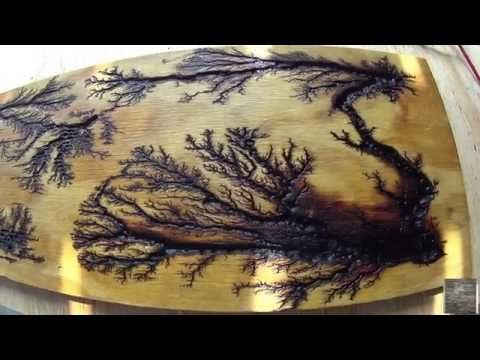 Wood Burning With 2000 Volts Of Electricity Lichtenberg