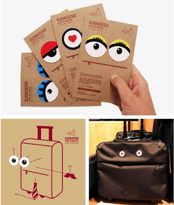 Give your luggage a face. It probably already stares at you wondering why you need all this stuff...