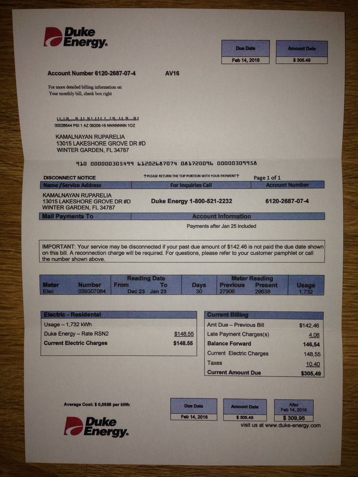 Utility bill Proof of addressTemplate Fake Custom