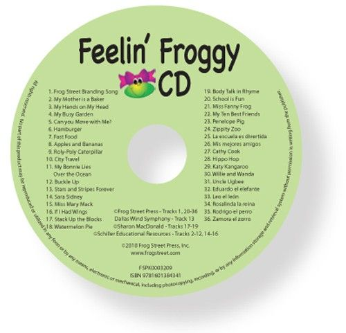 Feelin' Froggy CD  | Frog Street Press