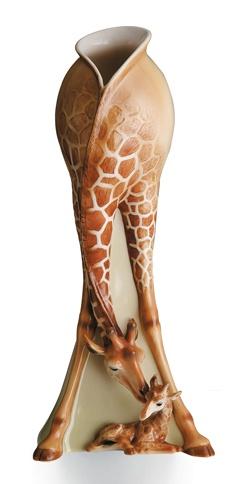Franz Porcelain Giraffe Collection Vase